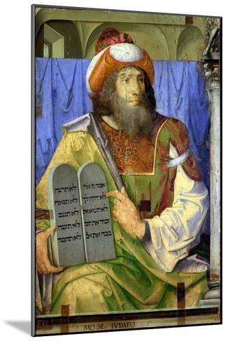Moses with the Ten Commandments, from a Series of Portraits of Illustrious Men (Detail)-Joos van Gent-Mounted Giclee Print