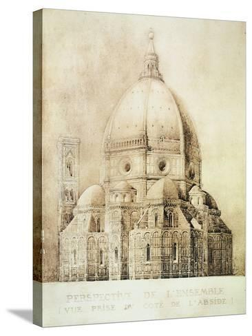 "Florence Cathedral from the East, from ""Fragments D'Architecture Du Moyen Age Et De La Renaissance""-Eugene Duquesne-Stretched Canvas Print"