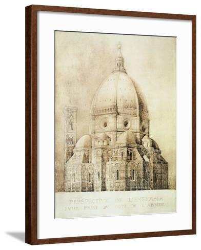 "Florence Cathedral from the East, from ""Fragments D'Architecture Du Moyen Age Et De La Renaissance""-Eugene Duquesne-Framed Art Print"