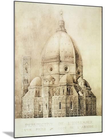 "Florence Cathedral from the East, from ""Fragments D'Architecture Du Moyen Age Et De La Renaissance""-Eugene Duquesne-Mounted Giclee Print"