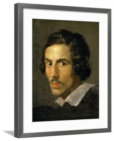 Self Portrait of the Artist in Middle Age-Giovanni Lorenzo Bernini-Framed Art Print