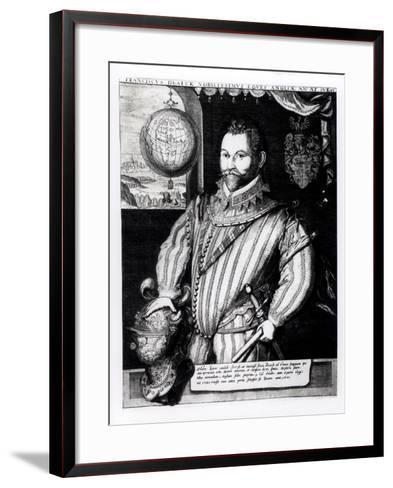 Portrait of Sir Francis Drake--Framed Art Print