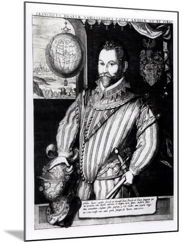 Portrait of Sir Francis Drake--Mounted Giclee Print