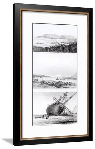 """Scenes of the """"Beagle"""" Being Repaired, on the Distant Cordillera of the Andes-Conrad Martens-Framed Art Print"""