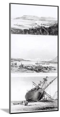 """Scenes of the """"Beagle"""" Being Repaired, on the Distant Cordillera of the Andes-Conrad Martens-Mounted Giclee Print"""