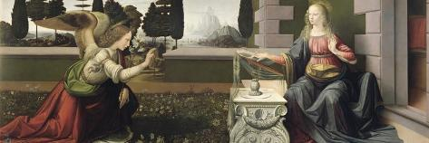 Annunciation, 1472-75-Leonardo da Vinci-Stretched Canvas Print