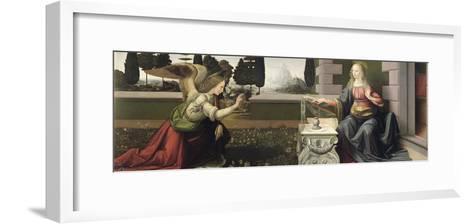 Annunciation, 1472-75-Leonardo da Vinci-Framed Art Print