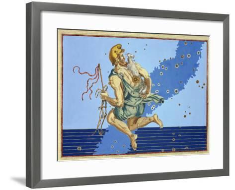 "Auriga, the Constellation of the Northern Hemisphere, from ""Uranometria""-Johann Bayer-Framed Art Print"