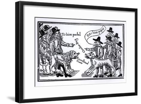 To Him Pudel, Bite Him Peper, English Civil War Propaganda--Framed Art Print