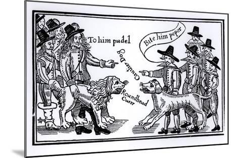 To Him Pudel, Bite Him Peper, English Civil War Propaganda--Mounted Giclee Print