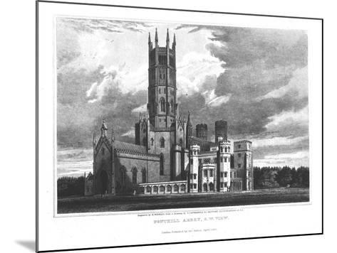 """Fonthill Abbey from the South-West, from """"Graphic and Literary Illustrations of Fonthill Abbey""""-George Cattermole-Mounted Giclee Print"""