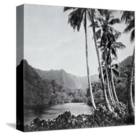 """Hitiaa Lake, from """"Tahiti,"""" Published in London, 1882-Colonel Stuart-wortley-Stretched Canvas Print"""
