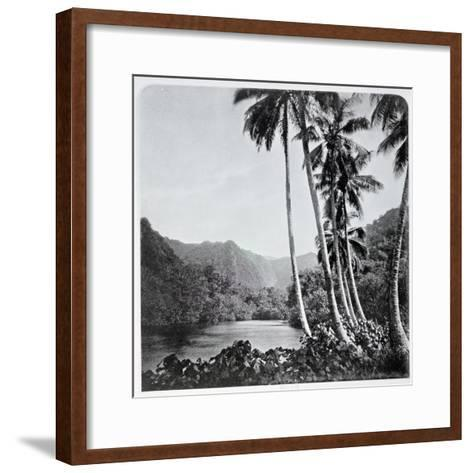 """Hitiaa Lake, from """"Tahiti,"""" Published in London, 1882-Colonel Stuart-wortley-Framed Art Print"""