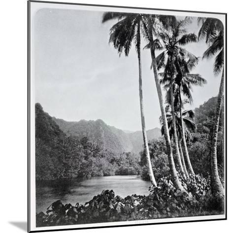 """Hitiaa Lake, from """"Tahiti,"""" Published in London, 1882-Colonel Stuart-wortley-Mounted Giclee Print"""