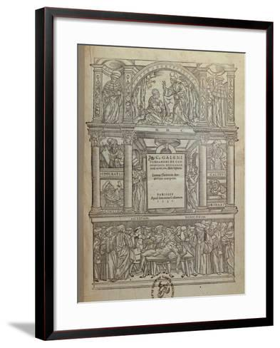 Title Page of a Book by Galen, Published in Paris, 1530--Framed Art Print