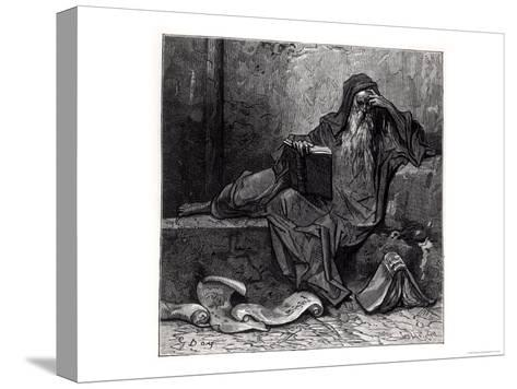 """The Enchanter Merlin, from """"Orlando Furioso"""" by Ludovico Ariosto, Published by Hachette in 1888-Gustave Dor?-Stretched Canvas Print"""