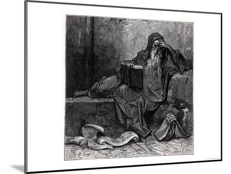 """The Enchanter Merlin, from """"Orlando Furioso"""" by Ludovico Ariosto, Published by Hachette in 1888-Gustave Dor?-Mounted Giclee Print"""