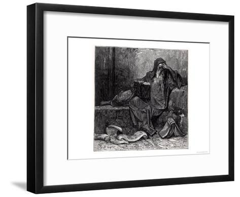 """The Enchanter Merlin, from """"Orlando Furioso"""" by Ludovico Ariosto, Published by Hachette in 1888-Gustave Dor?-Framed Art Print"""