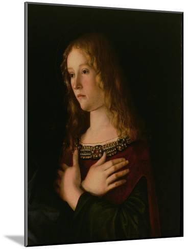 Mary Magdalene, Detail from the Virgin and Child with St. Catherine and Mary Magdalene, circa 1500-Giovanni Bellini-Mounted Giclee Print