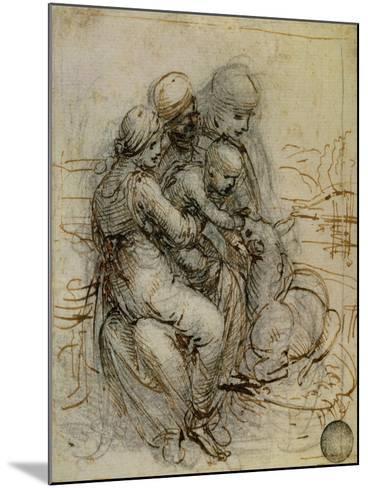 Virgin and Child with St. Anne-Leonardo da Vinci-Mounted Giclee Print