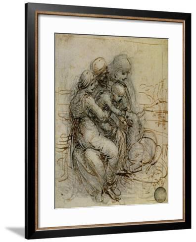 Virgin and Child with St. Anne-Leonardo da Vinci-Framed Art Print