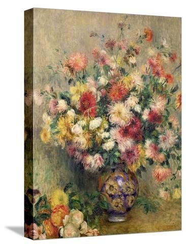 Dahlias-Pierre-Auguste Renoir-Stretched Canvas Print