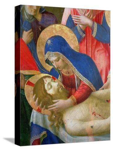 Lamentation over the Dead Christ, 1436-41 (Detail)-Fra Angelico-Stretched Canvas Print