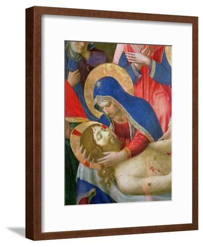 Lamentation over the Dead Christ, 1436-41 (Detail)-Fra Angelico-Framed Art Print