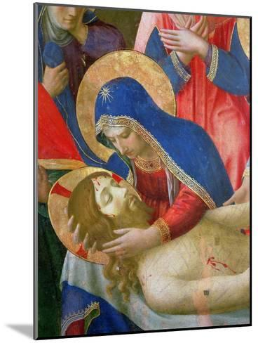 Lamentation over the Dead Christ, 1436-41 (Detail)-Fra Angelico-Mounted Giclee Print