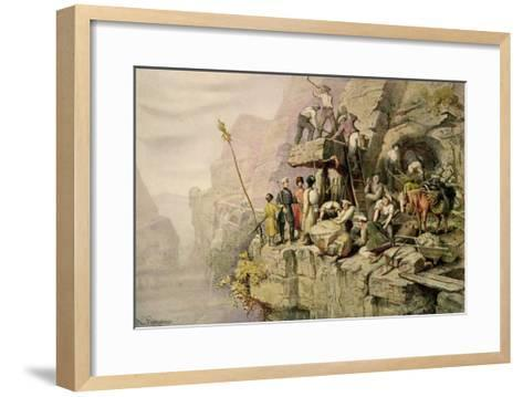 A Stone Quarry, 1833-H. Kretzschmer-Framed Art Print