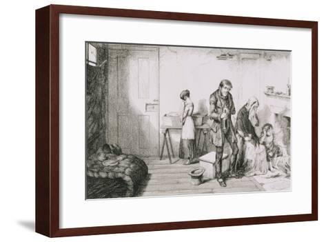 The Bottle, Plate V, Cold, Misery and Want Destroy Their Youngest Child-George Cruikshank-Framed Art Print