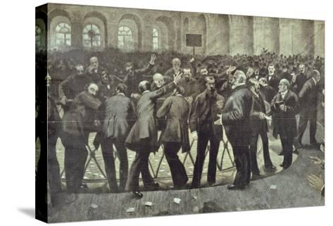 "The Famous ""Corbeille"" at the Paris Bourse, circa 1885--Stretched Canvas Print"