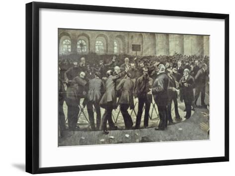 "The Famous ""Corbeille"" at the Paris Bourse, circa 1885--Framed Art Print"
