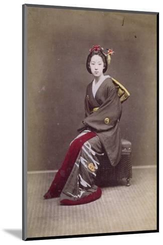Young Girl in a Kimono, circa 1860-70--Mounted Giclee Print