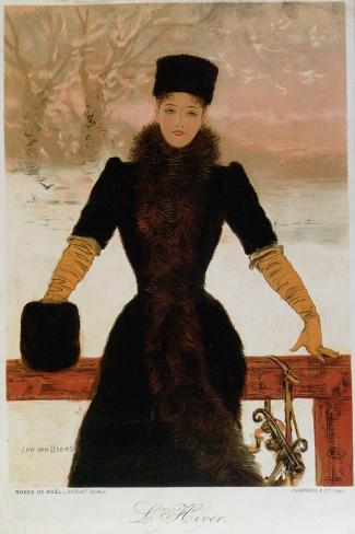 Allegory of Winter, circa 1900-Jan van Beers-Stretched Canvas Print