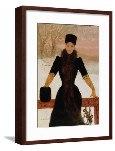 Allegory of Winter, circa 1900-Jan van Beers-Framed Art Print