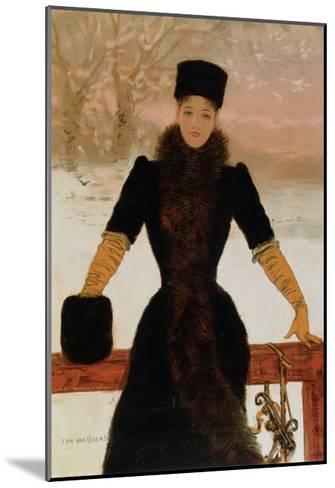 Allegory of Winter, circa 1900-Jan van Beers-Mounted Giclee Print