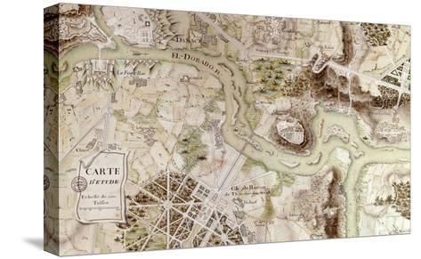 """A Map Inspired by """"Candide"""" by Francois Voltaire for a Competition--Stretched Canvas Print"""