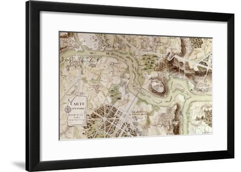 """A Map Inspired by """"Candide"""" by Francois Voltaire for a Competition--Framed Art Print"""