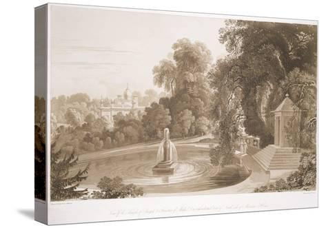 View of the Temple of Suryah and the Fountain of Mahah Doo-John Martin-Stretched Canvas Print