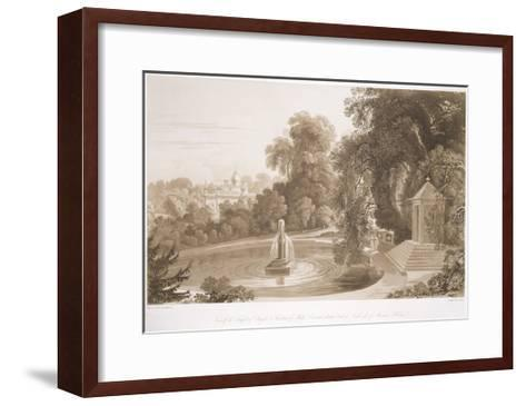 View of the Temple of Suryah and the Fountain of Mahah Doo-John Martin-Framed Art Print