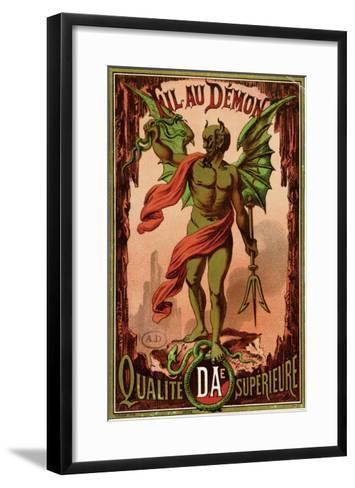 "Label for ""Fil Au Demon"" Brand of Sewing Thread, circa 1880-90--Framed Art Print"