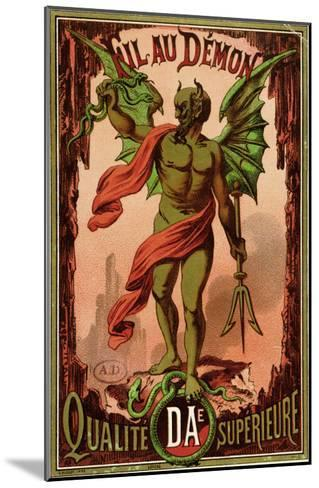 """Label for """"Fil Au Demon"""" Brand of Sewing Thread, circa 1880-90--Mounted Giclee Print"""