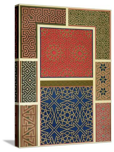 Wooden Compartments and Borders-Achille-Constant-Théodore-Émile Prisse d'Avennes-Stretched Canvas Print