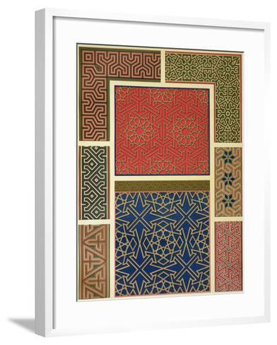 Wooden Compartments and Borders-Achille-Constant-Théodore-Émile Prisse d'Avennes-Framed Art Print