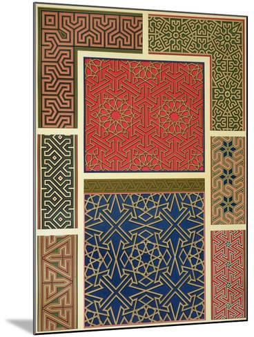 Wooden Compartments and Borders-Achille-Constant-Théodore-Émile Prisse d'Avennes-Mounted Giclee Print
