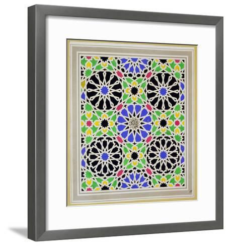 Mosaic Pavement in the Dressing Room of Sultana, Alhambra, from the Arabian Antiquities of Spain-James Cavanagh Murphy-Framed Art Print