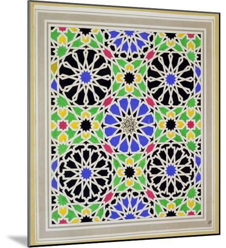 Mosaic Pavement in the Dressing Room of Sultana, Alhambra, from the Arabian Antiquities of Spain-James Cavanagh Murphy-Mounted Giclee Print