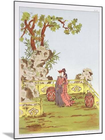 """Couple in a Chinese Garden, from """"Ornaments of China""""-Jean Francois Albanis De Beaumont-Mounted Giclee Print"""