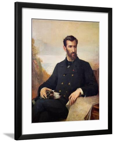 Pierre Savorgnan De Brazza 1886-Xavier Alphonse Monchablon-Framed Art Print
